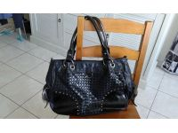 sac a main noir brillant